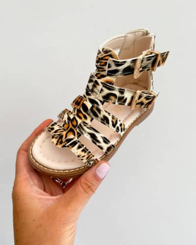 Leopard Print Gladiator Sandals