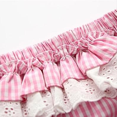 Itty Bitty Pink & White Stripes Baby Girl Summer Set