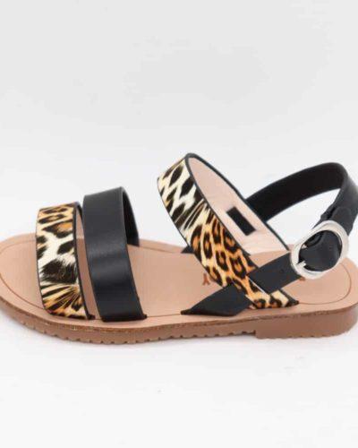Leopard Print Black Fashion Sandals