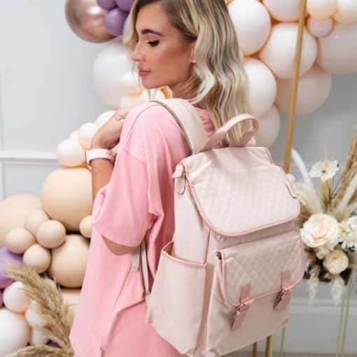 Billie Faiers Rose Gold Blush Backpack Changing Bag