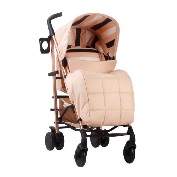 Christina Milian AMPM MB51 Blush Stripes Rose Gold Stroller