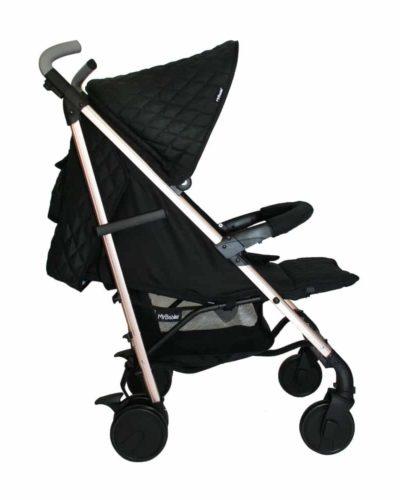 Billie Faiers MB51 Rose Gold Black Quilted Stroller