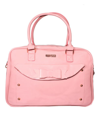 Billie Faiers Pink Patent Changing Bag