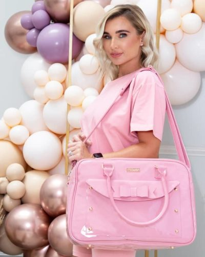 Billie Faiers Patent Pink Changing Bag