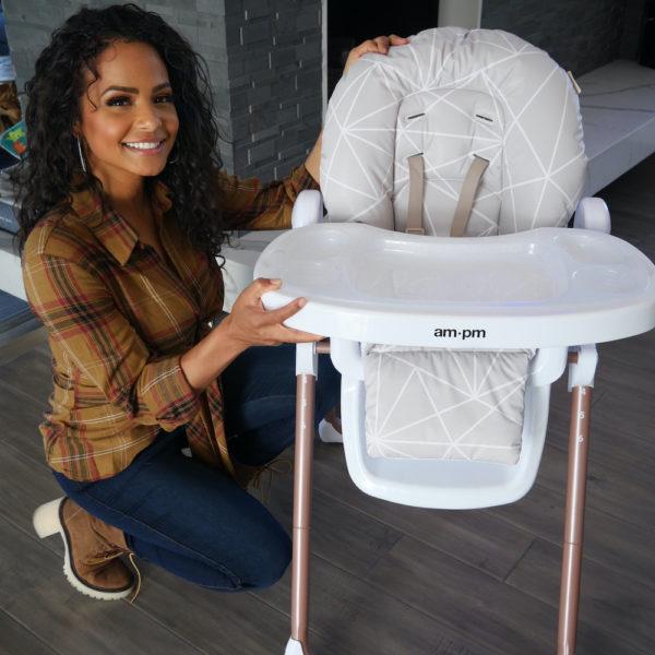 Christina Milian AMPM Geometric Mocha Premium Highchair