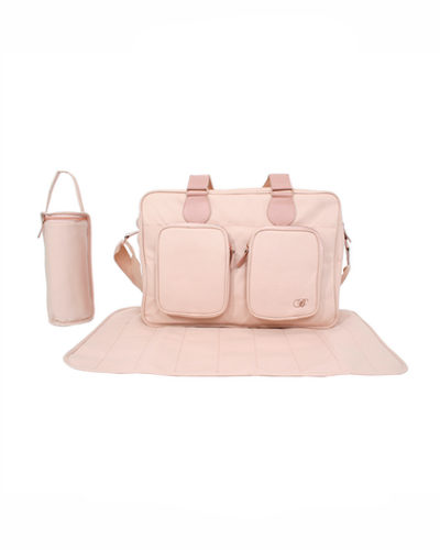 Billie Faiers Rose Gold Blush Deluxe Baby Changing Bag