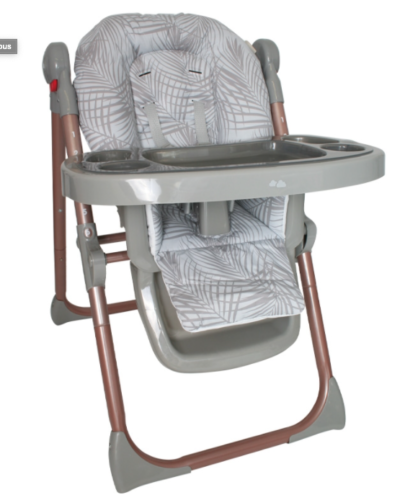Samantha Faiers Rose Gold Grey Tropical Premium Highchair