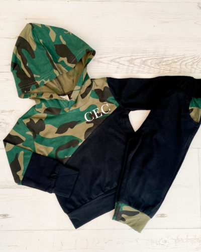 Itty Bitty Personalised Camouflage Print Tracksuit
