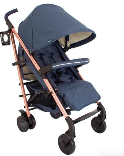 Billie Faiers Rose Gold & Navy Lightweight Stroller
