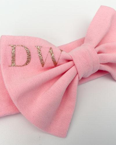 Itty Bitty Pink Personalised Bow Headband
