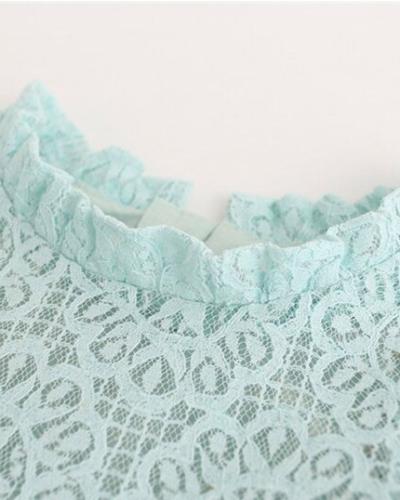Itty Bitty Limited Collection Lace Pom Pom Trim Dress
