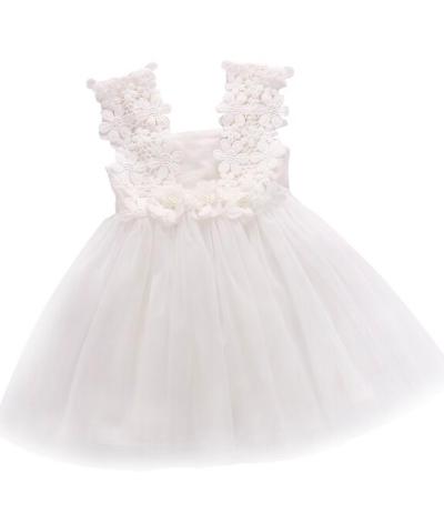Itty Bitty Blue White Flower Dress